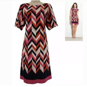 18W 2X▪️CHEVRON PRINT CAMRYN SHIFT DRESS Plus Size